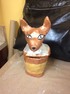 Egyptian cantopic clay jar art project