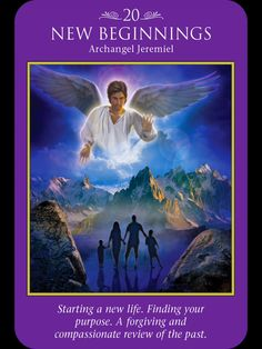 Archangel Jeremiel: Starting a New Life