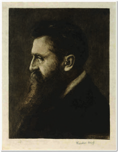Theodor Herzl( May 2, 1860 – July 3, 1904),was an Austro-Hungarian journalist, playwright, political activist, and writer. He was one of the fathers of modern political Zionism. Herzl formed the World Zionist Organization and promoted Jewish migration to Palestine in an effort to form a Jewish state (Israel).While Herzl is often mistakenly identified as the first major Zionist activist, scholars such as Yehuda Bibas and Judah Alkalai were promoting Zionist ideas before him.