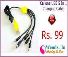 Callone USB 5 In 1 Charging Cable Rs 99