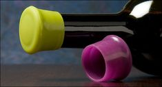 Brilliant!  There would actually fit in the fridge! - Silicone Wine-Bottle Caps - Lee Valley Tools