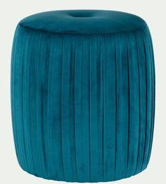 Pouf bleu canard : les plus beaux modèles Pouf Bleu, Deco Boheme, Outdoor Furniture, Outdoor Decor, Ottoman, Most Beautiful, Chic, Home Decor, Square Ottoman