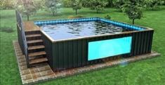 Tips on How to Choose the Best Swimming Pool Contractors Around You My Pool, Outdoor Swimming Pool, Shipping Container Pool Cost, Shipping Containers, Iso Container, Cargo Container, Ideas De Piscina, Outdoor Spaces, Outdoor Living