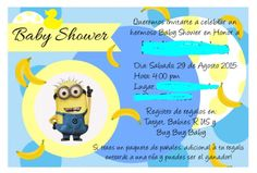 Minion Theme Baby shower Invite