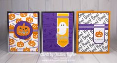I'm not a big Halloween fan and I don't usually make Halloween cards, but when I got my September 2018 Paper Pumpkin Kit from Stampin' Up! I just couldn't resist playing with the fun things inside! Paper Pumpkin Kits are great for on the go or when you li Halloween Paper Crafts, Halloween Tags, Holidays Halloween, Halloween Themes, Halloween 2018, Scary Halloween, Halloween Makeup, Halloween Party, Halloween Costumes