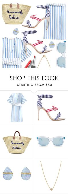 """""""Permanently Poolside"""" by stacey-lynne ❤ liked on Polyvore featuring H&M, Alexandre Birman, Poolside Bags, Christopher Kane, Melissa Joy Manning, ZoÃ« Chicco and Burberry"""