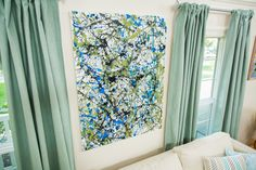 Add some color to a room with @kennethwingard's  DIY Pollock-Inspired Art!  For more great DIYs tune in to Home & Family weekdays at 10a/9c on Hallmark Channel!