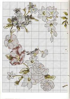 Coração de Flores - 2º de 3 /// Revista - Point de Croix nº54 - Dec 2012
