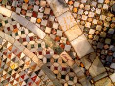 Throughout the late Medieval period the Cosmati family out of Rome created masterpieces in many of Italy's most important churches. No, not on the walls but with the floors, where you often walk! Westminster Abbey in London has a fine Cosmati floor from the 13th century!