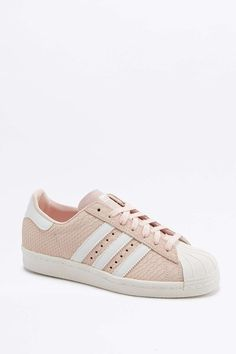 adidas Originals Superstar Pink Snakeskin Trainers
