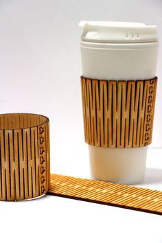 Living madera bisagra manga café