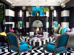 edgy eccentric interior decor pop art kourtney kardashian home decor