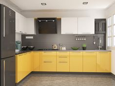 Buy Piony L-Shaped Modular Kitchen from Capricoast. Kitchen Cupboard Designs, Kitchen Room Design, Modern Kitchen Cabinets, Modern Kitchen Design, Kitchen Layout, Home Decor Kitchen, Interior Design Kitchen, L Shaped Modular Kitchen, Cuisines Design