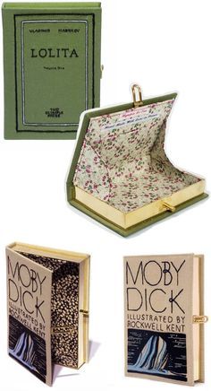 """Olympia Le-Tan book clutch. The """"Complete Works of Shakespeare"""" was nicer but I couldn't find a good pic to pin."""