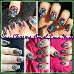 NEW SUN CHASERS INSIDE - white OUTSIDE - Purple, Pink,Blue,Orange,Yellow Makes Nails Change Never Get Tired of the COLOUR ... Ask about New CHAMELEON COLOUR SET ..... Angel Love Nails - CALL TO ORDER 435-635-4470