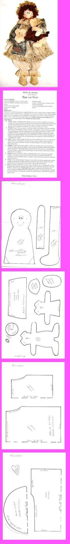 free doll pattern. ..•♥°.... Nims.... °♥•