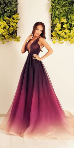 18 Purple Wedding Dresses — New Trend For 2019 Wedding Gown purple wedding gown Pretty Prom Dresses, Ball Dresses, Elegant Dresses, Cute Dresses, Beautiful Dresses, Ball Gowns, Formal Dresses, Chiffon Dresses, Purple Wedding Gown