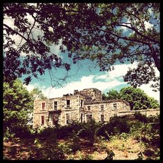 Mansion ruins at Fort Williams in Cape Elizabeth, Maine