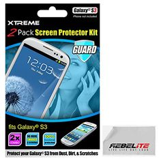 Rebelite High Definition Screen Protector for Samsung Galaxy 3 w/ Smudge & Scratch Resistant & Ultra Clear Material (2-Pack)