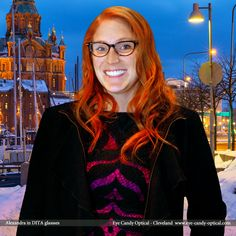 Alexandra is chilling in Helsinki, Finland wearing her new cool designer glasses by Dita. Eye Candy – Warm up the Winter with the hottest European Eyewear Fashion! Eye Candy Optical Cleveland – The Best Glasses Store! (440) 250-9191 - Book an Eye Exam Online or Over the Phone  www.eye-candy-optical.com
