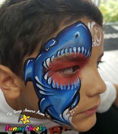 59 Facepainting Sharks Ideas In 2021 Shark Face Painting Face Painting Face Painting Designs