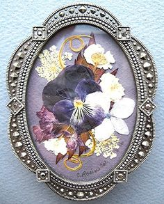 Purple Pansy Pressed Flower Frame by mingogardens on Etsy