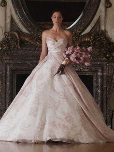 Romona Keveza floral patterned ballgown A-line wedding dress