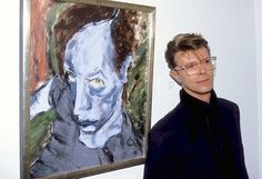 'Head of J.O.' (Iggy Pop) - David Bowie 1976 British 1947-2016 This is Bowie's portrait of James Osterberg, aka the musician Iggy Pop. There are at least two versions of this painting out in the...