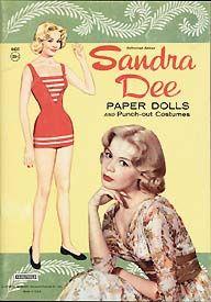 Sandra Dee - paper dolls