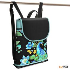 Jarry One Peacock black and turquoise Peacock, Diaper Bag, Backpacks, Turquoise, Bags, Fashion, Handbags, Moda, Fashion Styles