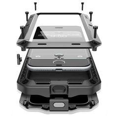 I7/7 cộng với sang trọng doom armor cuộc sống sốc dropproof chống rung kim loại nhôm + silicone bảo vệ case cho iphone 7 6 s 6 s cộng với