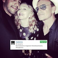 Madonna just posted a selfie with U2′s Bono on Instagram. The pic was taken in Nice, France, where she is [...]