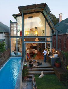 Love the urban backyard. Adelaide, Australia. Dwell magazine