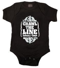 Johnny Cash Crawl The Line Baby Bodysuit