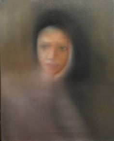 "Saatchi Art Artist Gennaro Santaniello; Painting, ""Memories: the sad girl sitting at bar"" #art"