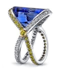 Faceted Fantasy Tanzanite Ring - Mark Schneider Design