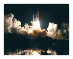 Beautiful Nature Space Mouse Pad Space Shuttle Lunch #6