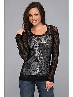 Stetson Stretch Lace Long Sleeve Tee