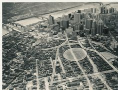 Showing the placement of the coming Civic Arena and what it displaced in the Hill District