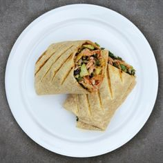It's a warm salad day. Braised Chicken Tinga #saladburrito & reggae ...
