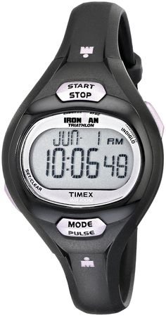 Timex Women's T5K187 Ironman Pulse Calculator Black/Purple Resin Strap Watch ** You can get additional details at the image link.