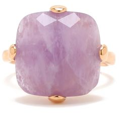 Milor Jewelry Cushion-Cut Amethyst Ring ($66) ❤ liked on Polyvore featuring jewelry, rings, 18 karat gold ring, cushion cut ring, amethyst jewelry, amethyst ring and 18k jewelry