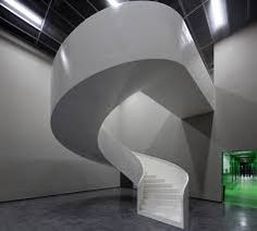 Contemporary white staircase. Homesandlifestylemedia.com