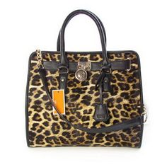 Michael Kors Leopard Large Yellow Totes Outlet