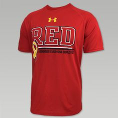Prove your allegiance to all those deployed with this great RED Friday Under Armour T-Shirt in red! &nbsp  100% Polyester Loose Fit UA Tech Fabric is quick-drying, ultra-soft & has a more natural feel Moisture Transport System wicks sweat and dries fast Anti-odor technology prevents the growth of odor causing microbes Raglan sleeve construction with cover stitched seams for comfort/mobility Screen print designs