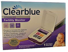 Fertility Monitors and OPKs: Clearblue Advanced Fertility Digital Touchscreen Monitor Ovulation Pregnancy New BUY IT NOW ONLY: $99.99