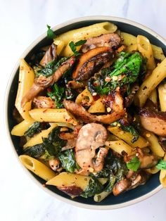 Mushroom and Cashew Alfredo Pasta (DF and GF) – The Dish On Healthy