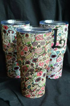 Check out this item in my Etsy shop https://www.etsy.com/listing/286212481/sugar-skull-true-north-tumbler-30-oz