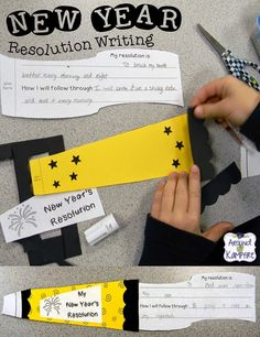 Writing New Year's Resolutions With Your Class!  That first week back after winter break is the perfect time to write resolutions or set new learning goals!