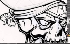 Adobe Illustrator Tutorial: How to Draw a Vector Pirate Skull. a very good tutorial